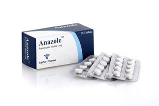 Anazole [Anastrozole 1mg] - 30 Tabs - Alpha-Pharma