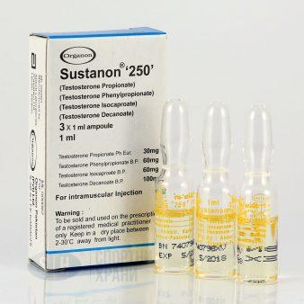 Sustanon 250 Injection [Testosterones Sustanon-Mix 250mg] - 1 Amp - Organon