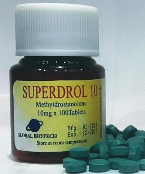 Buy Superdrol [Methasterone 10mg] - 100 Tabs - Global Anabolic